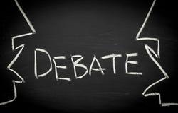 Het concept van het debat Stock Fotografie