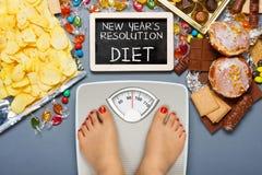 Het concept van het dieet Stock Afbeeldingen
