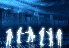 Het Concept van het e-business royalty-vrije illustratie