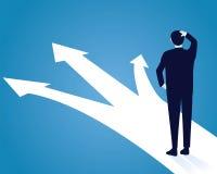 Het Concept van het Economisch besluit Verwar om te kiezen royalty-vrije illustratie