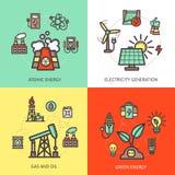 Het Concept van het energieontwerp Stock Afbeeldingen