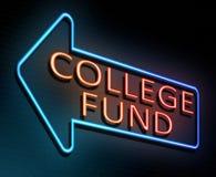 Het concept van het Fonds van de universiteit royalty-vrije illustratie