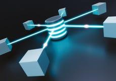 Het Concept van het gegevenscentrum Royalty-vrije Stock Afbeeldingen