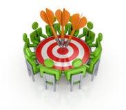 Het concept van het groepswerk. Stock Afbeelding