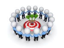 Het concept van het groepswerk. Stock Foto