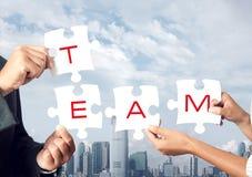 Het concept van het groepswerk Stock Afbeelding