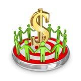 Het concept van het groepswerk. royalty-vrije illustratie