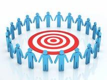 Het concept van het groepswerkdoel stock illustratie