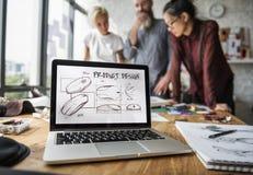 Het Concept van het het Productwerk van het planningsontwerp stock fotografie
