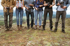 Het concept van het het teamgroepswerk van groepsfotografen Royalty-vrije Stock Foto's