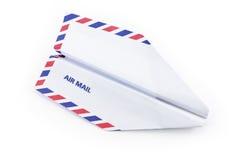 Het concept van het het vliegtuigluchtpost van het document Royalty-vrije Stock Afbeeldingen
