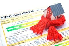 Het concept van het huisenergierendement Stock Afbeeldingen