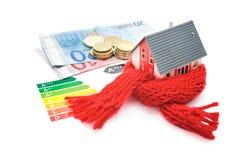 Het concept van het huisenergierendement Stock Fotografie