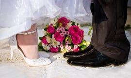 Het concept van het huwelijk Stock Fotografie