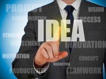 Het concept van het idee Stock Afbeeldingen