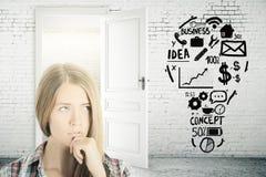 Het concept van het idee Stock Afbeelding