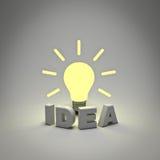Het concept van het idee lightbulb Stock Afbeeldingen