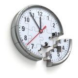 Het concept van het klokraadsel Royalty-vrije Stock Afbeelding