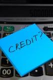 Het concept van het krediet Stock Foto's