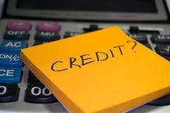 Het concept van het krediet Stock Afbeelding