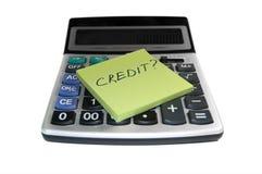 Het concept van het krediet Stock Fotografie