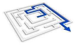 Het concept van het labyrint Stock Foto