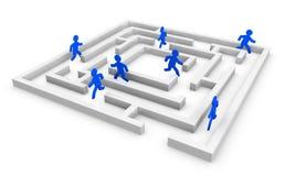 Het concept van het labyrint Royalty-vrije Stock Foto's