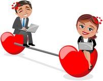 Het Concept van het liefdepraatje Stock Afbeelding