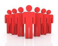 Het concept van het mensengroepswerk vector illustratie