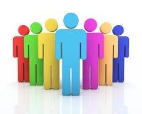 Het concept van het mensengroepswerk royalty-vrije illustratie