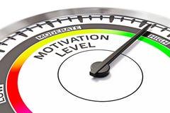 Het concept van het motivatieniveau Stock Afbeelding