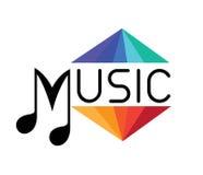Het concept van het muziekembleem Royalty-vrije Stock Afbeelding