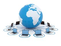 Het concept van het netwerk Stock Foto's