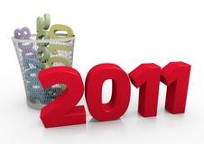 Het concept van het nieuwjaar stock illustratie