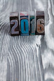Het concept van het nieuwjaar 2016 Stock Foto