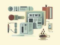Het concept van het nieuwsontwerp stock illustratie