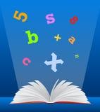 Het concept van het onderwijs met open boek stock illustratie