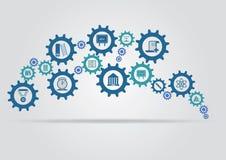 Het concept van het onderwijsmechanisme Stock Afbeeldingen