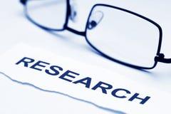 Het concept van het onderzoek Royalty-vrije Stock Afbeelding
