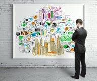 Het concept van het onderzoek Stock Afbeeldingen