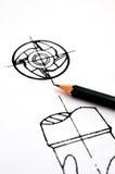 Het concept van het ontwerp, roesdeel van hulpmiddel Royalty-vrije Stock Afbeelding