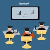 Het concept van het pictogramgroepswerk voor conferentie Royalty-vrije Stock Foto
