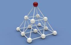 Het concept van het piramidenetwerk stock afbeelding