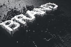 Het Concept van het pixelmerk stock illustratie