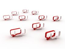 Het concept van het praatje. Rood en wit royalty-vrije illustratie
