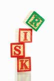 Het concept van het risico Stock Foto's