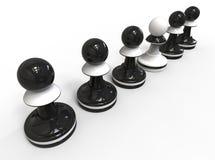 Het concept van het schaak Stock Fotografie