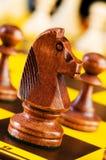 Het concept van het schaak met stukken Stock Afbeelding