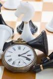 Het concept van het schaakspel Stock Foto