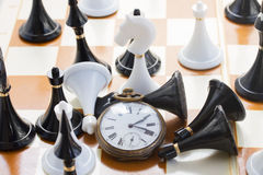 Het concept van het schaakspel Stock Afbeelding